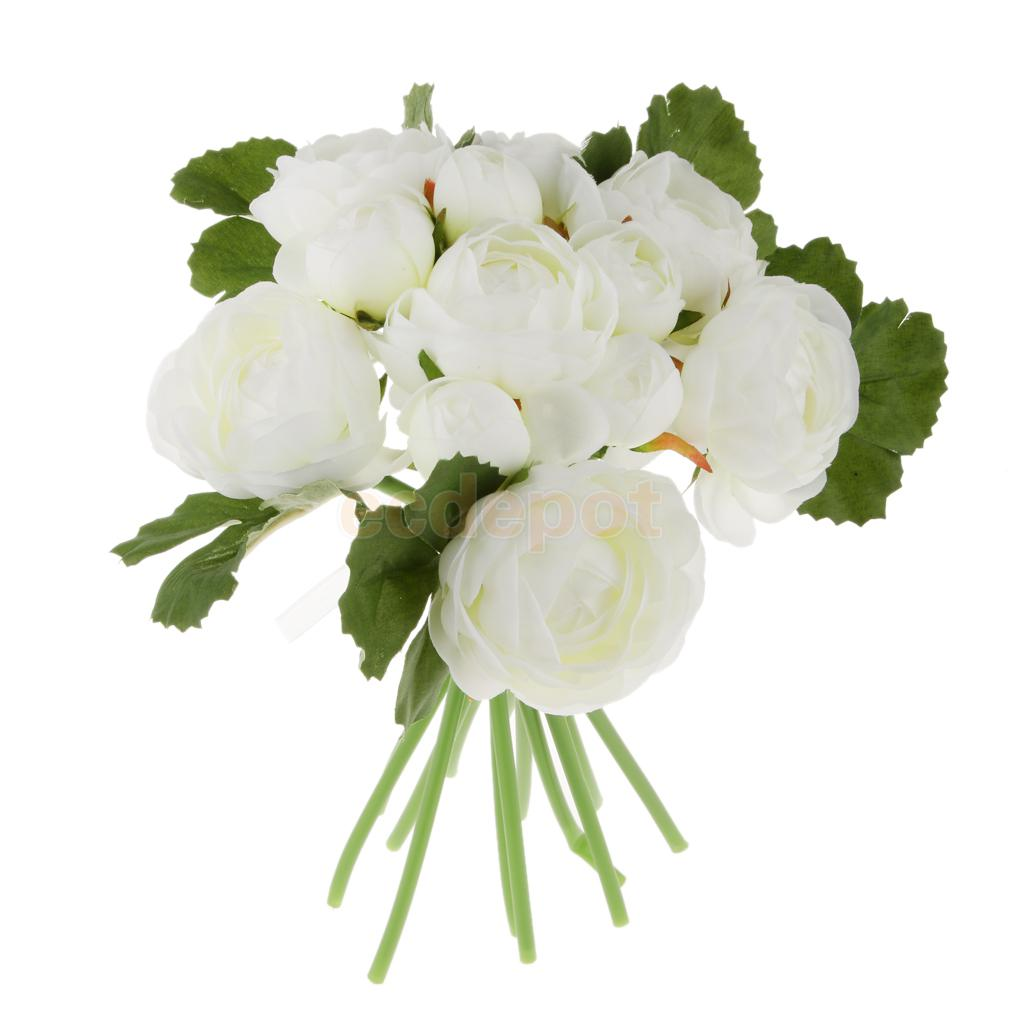 Artificial Jasmine Flowers For Hair. Flower Clip White Rose Blooms ...