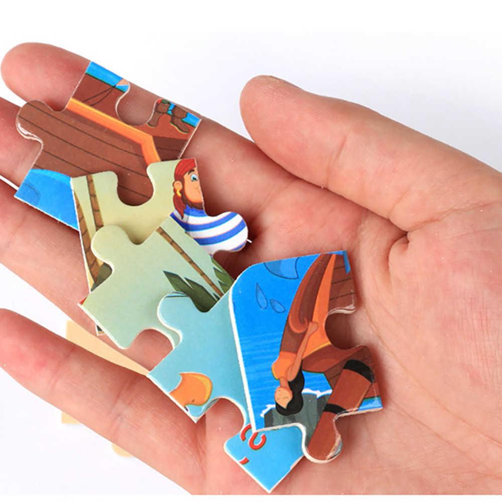 חמוד קריקטורה תינוק פאזל עץ קטן חתיכה ילדי צעצוע חינוכיים צעצועים לילדים juguetes educativos RE7