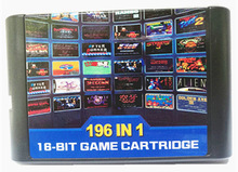 2018 !!! 196 in 1 pastella multi giochi di 112 in 1 e 126 in 1 per Sega Mega Drive Per PAL e NTSC drop shipping