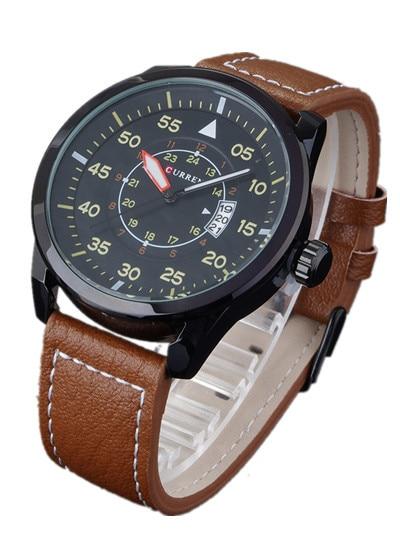 2016 Relojes Curren hombres Deportes Relojes de pulsera de Cuero Relojes de Cuarzo Para Hombre Relojes de Primeras Marcas de Lujo Del Relogio Relojes de Los Hombres 8210