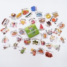 40 pcs/pack Cute Food map paper sticker DIY diary album decoration stickers scrapbooking planner label Scrapbook stickers
