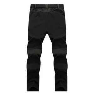 Image 5 - LOMAIYI NEW Mens Winter Casual Pants Men Fleece Lining Sweatpants Breathable Warm Mens Trousers Black Zipper Pants,AM201