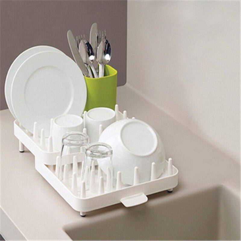Kitchen Storage Holder Rack Adjustable Cutlery Dishes Rack Draining Kitchen Oranginer