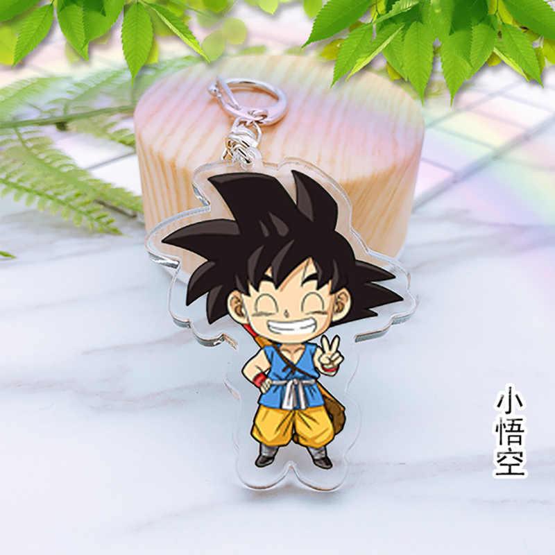 Japão Anime Figuras de Ação Dragonballs Acrílico Cor Brilhante Chaveiro carro saco anel da corrente chave do pvc Estatueta z figuarts chaveiro brinquedos