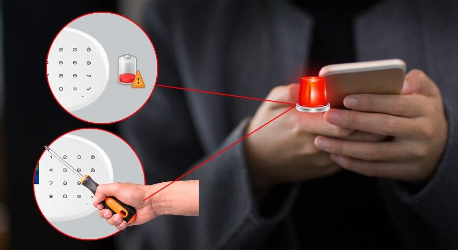 Kerui língua switchable wifi sistema de alarme