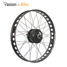 "PASION E BIKE 26"" Fat Bike Electric Bicycles Wheel Motor 48V 500W BAFANG Rear Motor 80MM Rims 190mm Bicicleta Motors(China)"