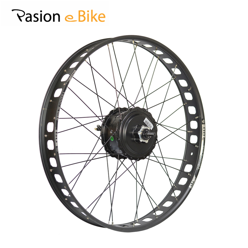 PASION E BIKE 26 Fat Bike Electric Bicycles Wheel Motor 48V 500W BAFANG Rear Motor 80MM Rims 190mm Bicicleta Motors pasion e bike 48v 500w electric fat bikes bicycle gear hub motor conversion kit bafang 190mm 26 rear wheel 80mm rims
