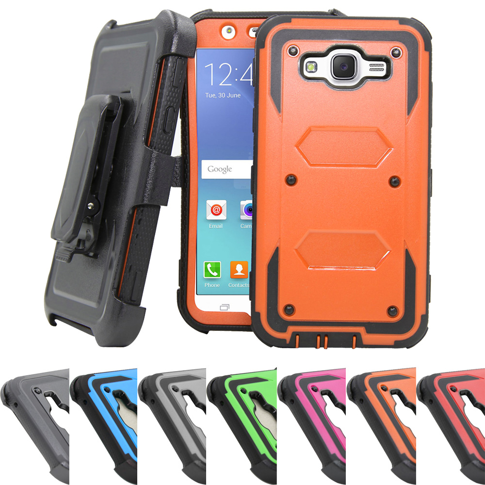 Heavy Duty Hybrid Armor Case With Belt Clip Holster Phone Cover For <font><b>Samsung</b></font> Galaxy J7 Neo J701M / J7 Nxt J701F / J7 Core <font><b>SM</b></font>-J701 image