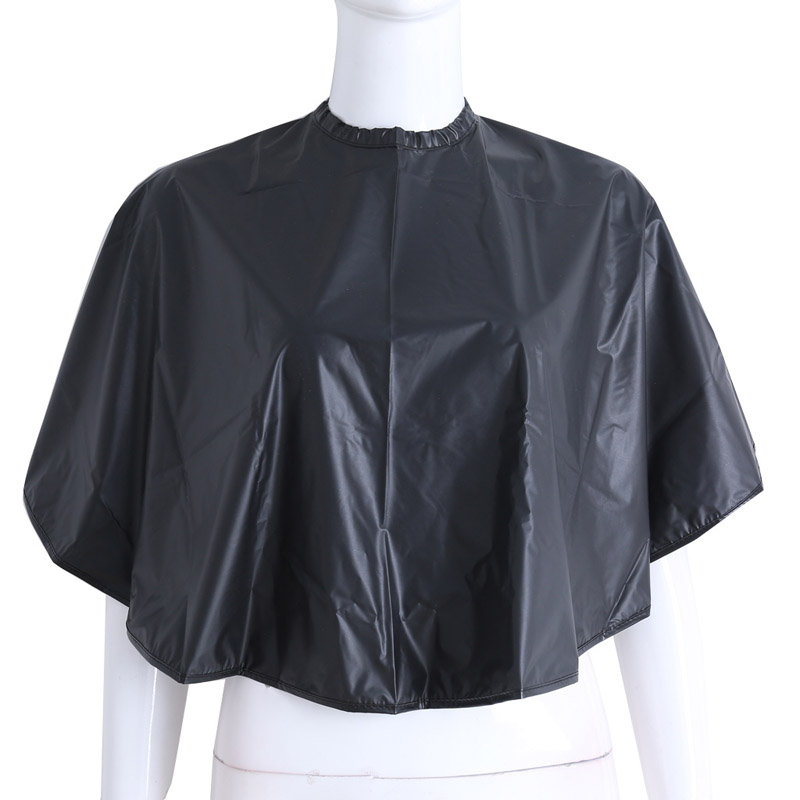 New Short Square Black Waterproof Hairdressing Salon Barber Hair Cutting Cape Cloth Wrap