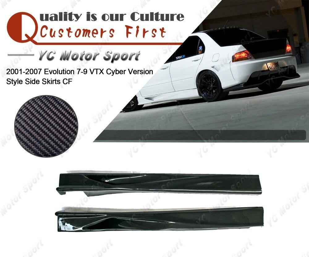Carbon Fiber Rear Side Skirt Spats for Mitsubishi EVO 7 8 9 and 2001-2007 Lancer