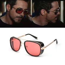 The Avengers 3 Matsuda TONY Man Sunglasses Vintage Designer Sun Glasses 2019 New Steampunk Brand