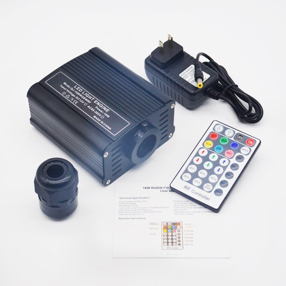Voiture étoile décorative pour la maison lueur optique Fiber bricolage Multi Mode RF télécommande pilote plafonnier moteur LED RGBW optique