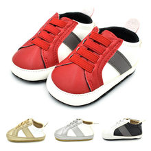 2018 New Brand Baby Boy Girl Shoes Toddler Infant Anti-slip Soft Soled Leather First Walker Newborn Sneakers Baby Shoes M8Y29#F(China)