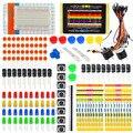 Generalduty starter kit peças eletrônicas para arduino com led/fios em ponte/tábua de pão + caixa branca + 11 projetos (online)