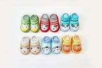 New 6Pairs/lot Spring Baby Floor Socks Newborn Baby Infant Cotton Unisex Boys Girls Cute Cartoon Toddler Anti-Slip Floor Socks