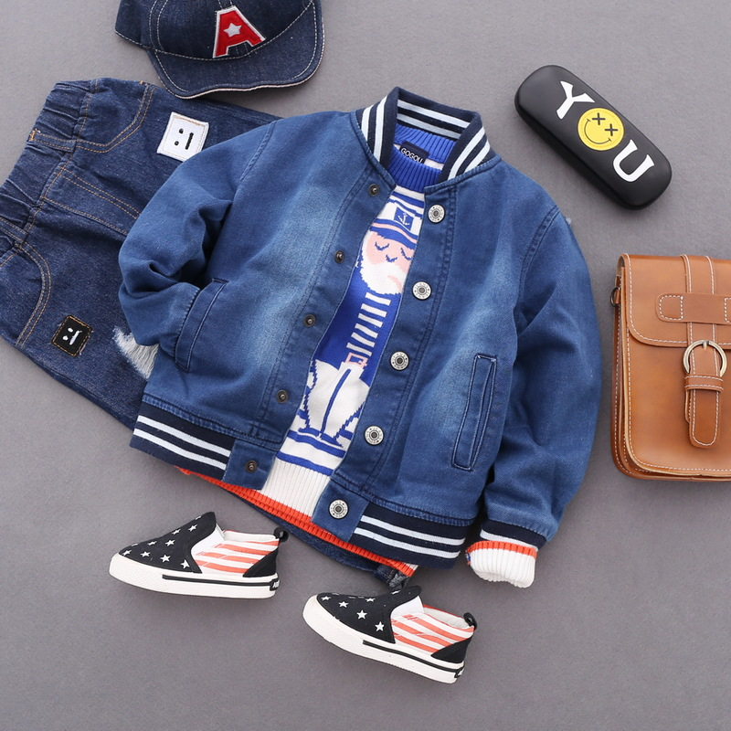 Baby Boys Coat 2018 New Spring Autumn Wash Soft Denim Coat Vintage Single Breasted Coat Jeans Jacket for Kids Children Clothing single breasted dual pockets denim skirt