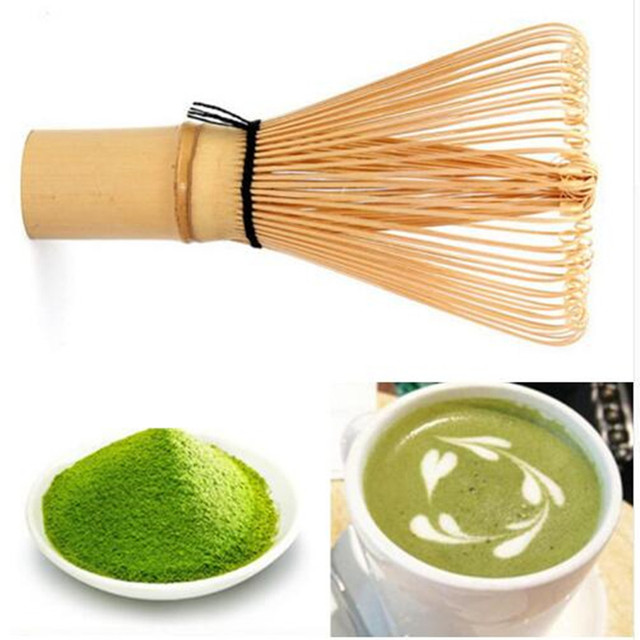 Japanese Ceremony Bamboo 64 Matcha Green Tea Powder Whisk Matcha Bamboo Whisk Bamboo Chasen Useful Brush Tools Tea Accessories