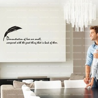 Decorate Household Act The Role Ofing Is Tasted Fine Carving English Proverb Wall Stickers Stickers House