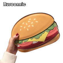 Bolsa Cupcake Women Bag Popcorn Messenger Bags Ice Cream Women Leather Handbags Hamburger Clutch  Fries Bolsas Feminina