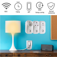 Mindkoo Smart Home Outlet EU US UK Smart Wireless WiFi Power Socket Plug Timer Switch Support