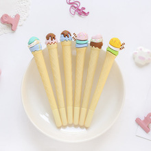 3pcs Ice cream gel pen for writing 0.5mm ballpoint Blue color ink pens Cute Stationery kids gift Office School supplies A6037 6pcs novelty capsule ballpoint pen cute vitamin pill blue color ink pens for writing stationery office school accessories a6205