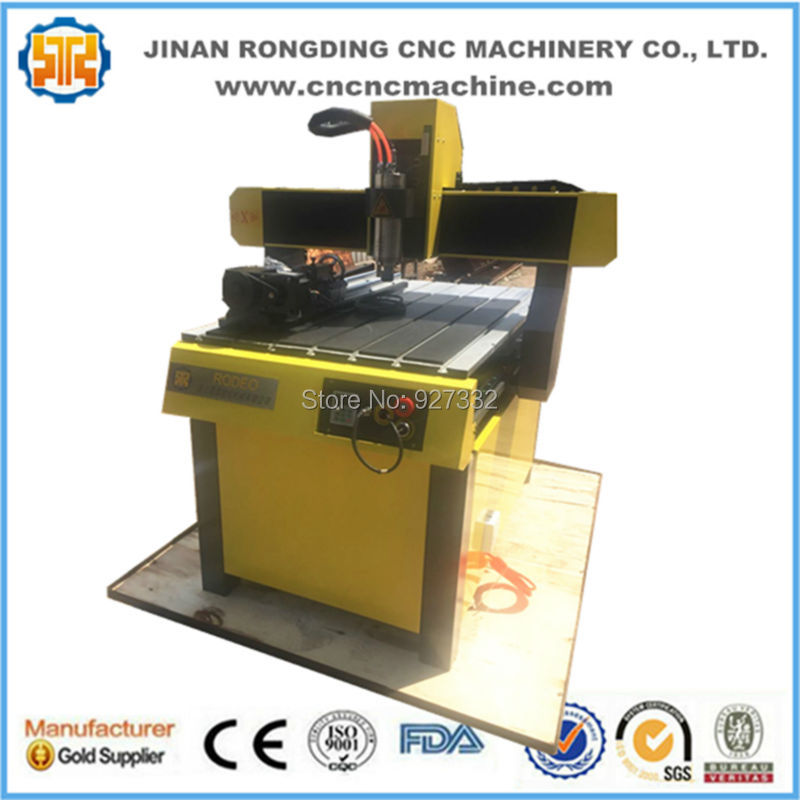 China RODEO wood stone metal carving 6090 mini cnc router/ cnc 4 axis with rotary china good quality wood cnc router china for sale