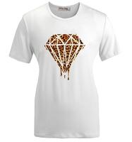 أزياء الصيف عارضة تي شيرت نزيف ذوبان نازف غالاكسي الماس ليوبارد فن الجرافيك النساء فتاة قصيرة الأكمام t-shirt أعلى