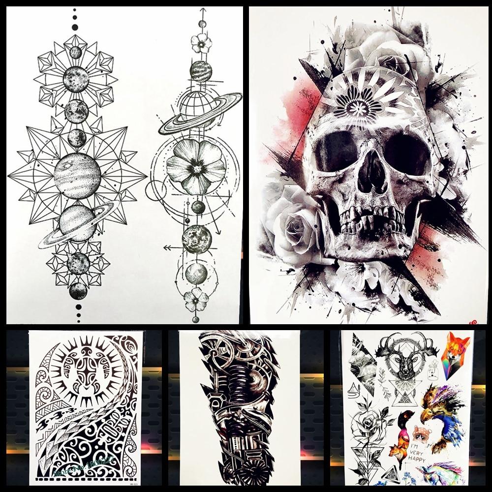 Большой Средства ухода за кожей Книги по искусству, временные татуировки Стикеры Форсаж Дуэйн рок Джонсон татуировки phb523 поддельные татуировки Для мужчин Индийский тотем
