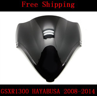 For SUZUKI GSXR1300 HAYABUSA 2008 2014 08 14 GSXR 13000R GSXR 1300R 1300 motorcycle Double bubble windshield windscreen Black