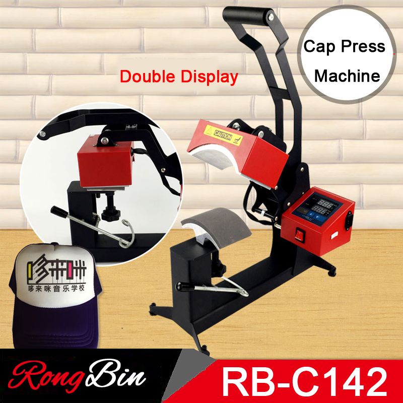 Double Display Cap Heat Press Machine Cap Hat Press Transfer Machine For DIY Personalised Baseball Snapback