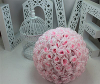 PINK Wedding Silk Kissing Flowers Balls Decorations Pomander rose ball Valentine's day & Home decorations