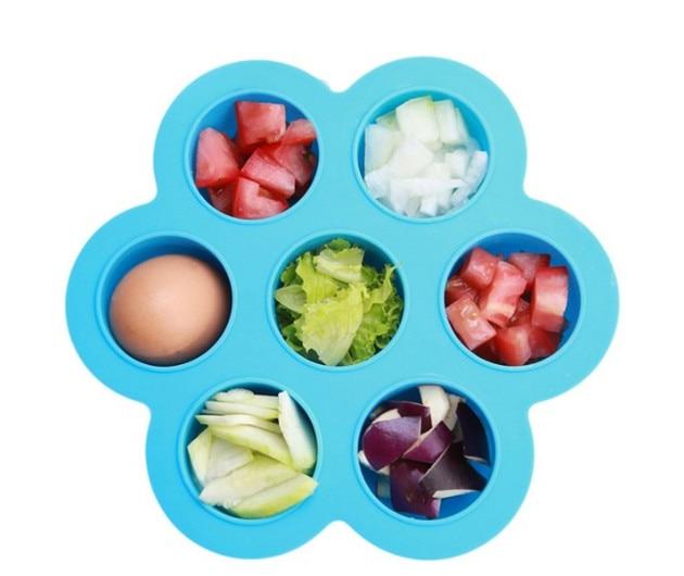 7 trou de qualité alimentaire bébé vaisselle complémentaires de stockage des aliments boîte de rangement bac à glaçons BRICOLAGE Machine À Glaçons Usage Domestique