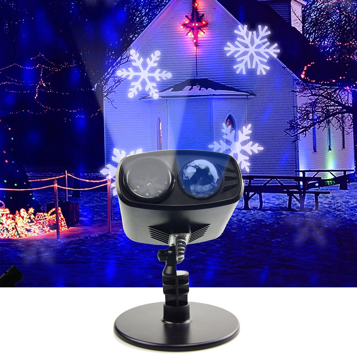 3Modes Snowflake LED Moving Head Stage Light Landscape Projector Laser Lamp For Christmas Party Light Garden Outdoor3Modes Snowflake LED Moving Head Stage Light Landscape Projector Laser Lamp For Christmas Party Light Garden Outdoor