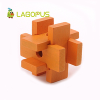 3D Handmade Building Intelligent Toy Vintage Ming Lock Luban Lock DIY Wooden Toys Adults Puzzle Toys