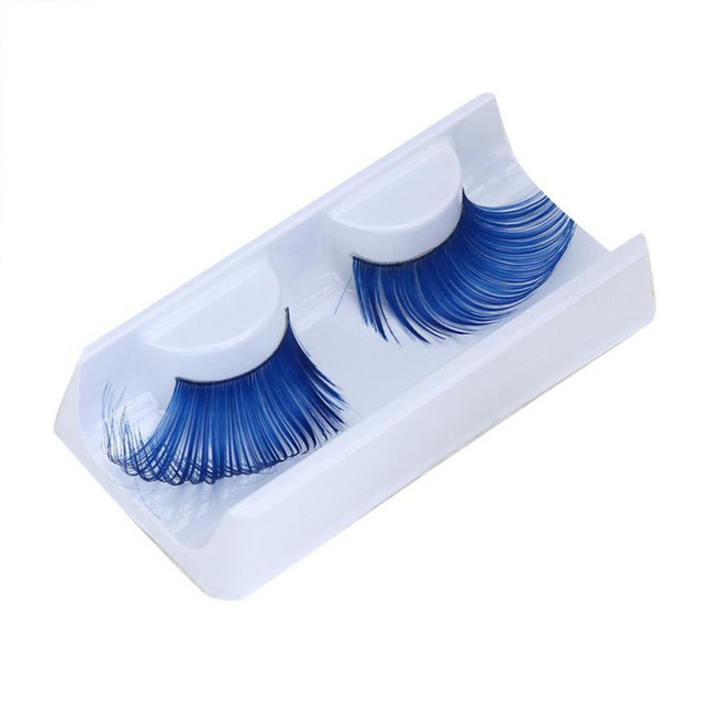 cdd43d055d4 2018 Women Fancy Soft Long Feather False Eyelashes Eye Lashes Makeup Party  Club Fancy Colorful Full Strip Lashes 4Color dropship