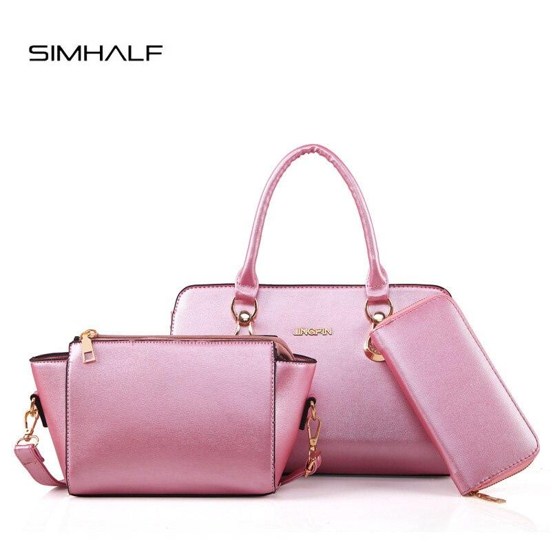 SIMHALF Composite Bag Female PU Leather Handbag Women Messenger Bags Ladies Brand Designer 2017 Handbag Purse Bolsa Feminina