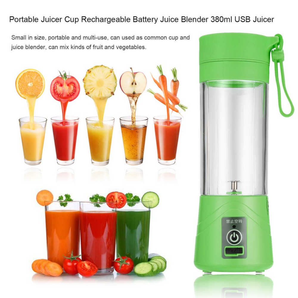 380ml USB Juicer Cup Fruit Mixing Machine Portable Personal Size Electric Rechargeable Mixer Blender Water Bottle Dropshipping