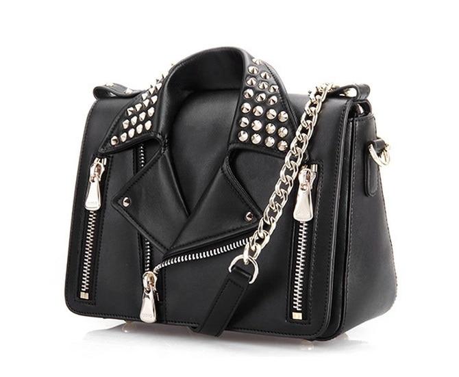 2018 new OMTO handbag fashion handbag rivet rivet personality shoulder diagonal cross lady bag цены