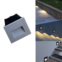 5W Led Footlight Embedded Corner Lamp Outdoor Square Sensor Step Stair Lights Waterproof Recessed Underground Buried Stair Light footlight butik