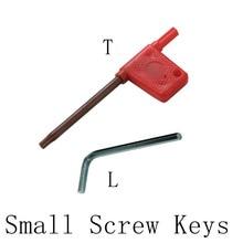 5piecesCNCHexagonal wrench key L2/2.5/L3L4L5mm tool bolt handle T6 T7 T8 T10 screw for NC tool fittings rx3 t6 nc nc250