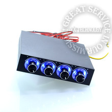 STW-6002 4 Channel Speed Fan Controller with Blue LED GDT Controller and CPU HDD VGA