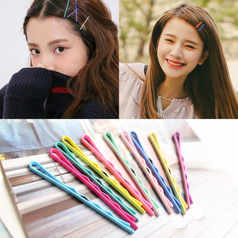 Trustful 10 Pcs/pack Candy Bright Pastel Color Girls Hairgrips Barrettes For Kids Hair Clips Accessories 2019 Official Apparel Accessories
