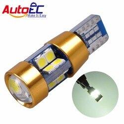 AutoEC 2x nouvelle haute qualité T10 19 SMD 3030 LED W5W 2825 192 921 168 501 blanc Auto Wedge lampe voiture marqueur lumière dôme lecture ampoule