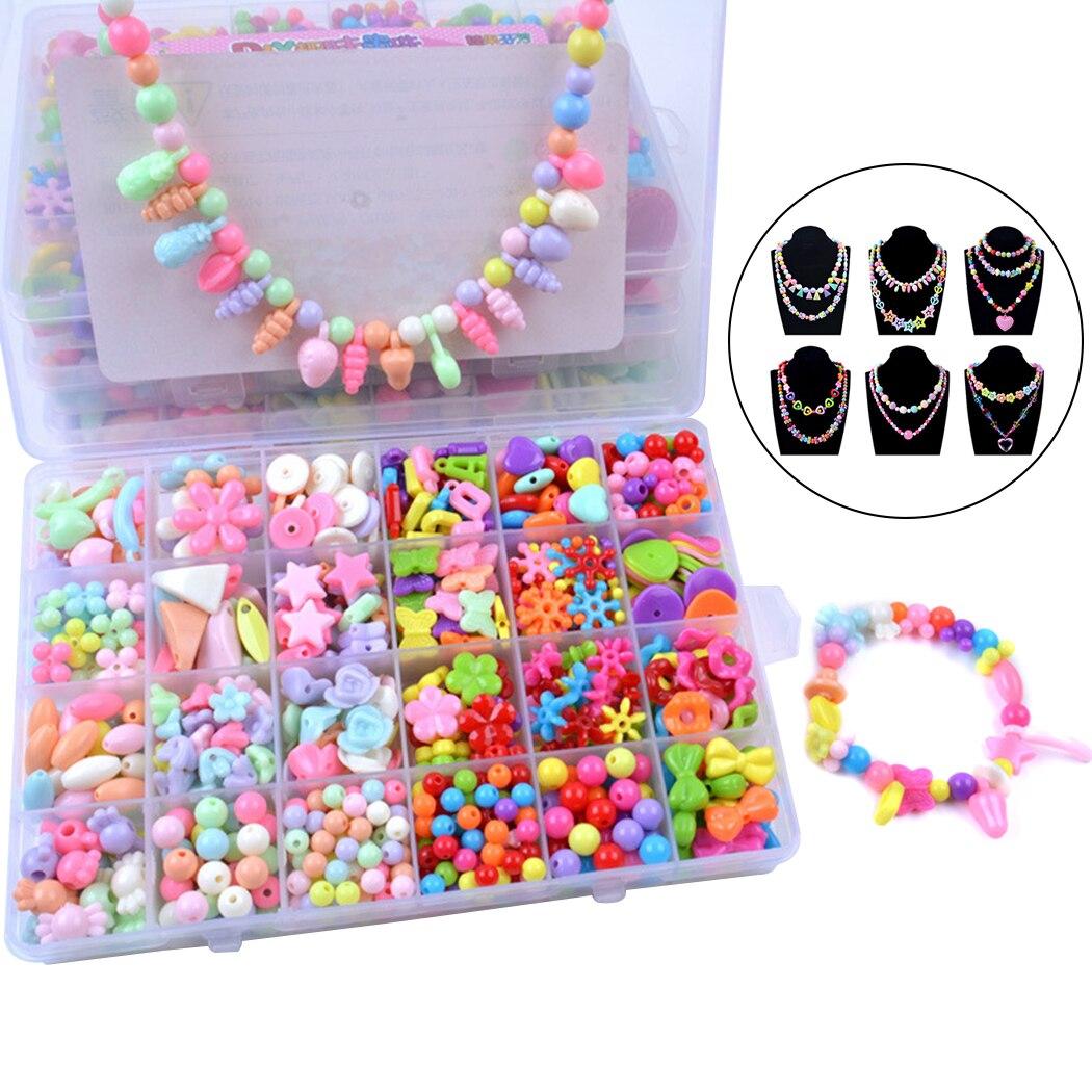 Children Diy Bead Set Assorted Acrylic Bead Kit Jewelry Necklace Bracelet Children Craft Set Craft Beads Jewelry Making Beads Jewelry Findings Components Aliexpress