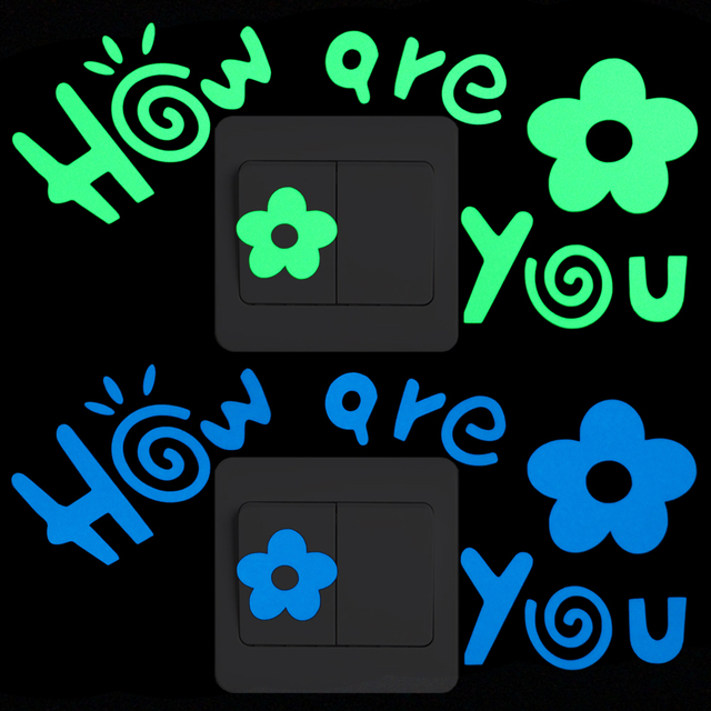 how are you luminous switch decals wall stickers kids room diy