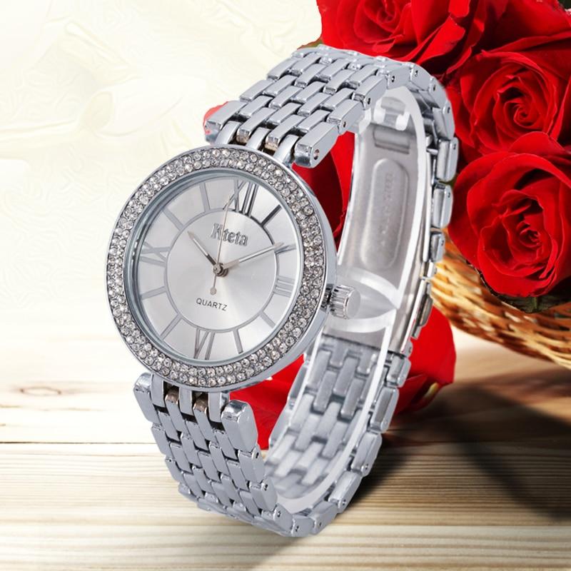 Damskie zegarki marki luksusowe diament złoty zegarek panie zegarek - Zegarki damskie - Zdjęcie 3