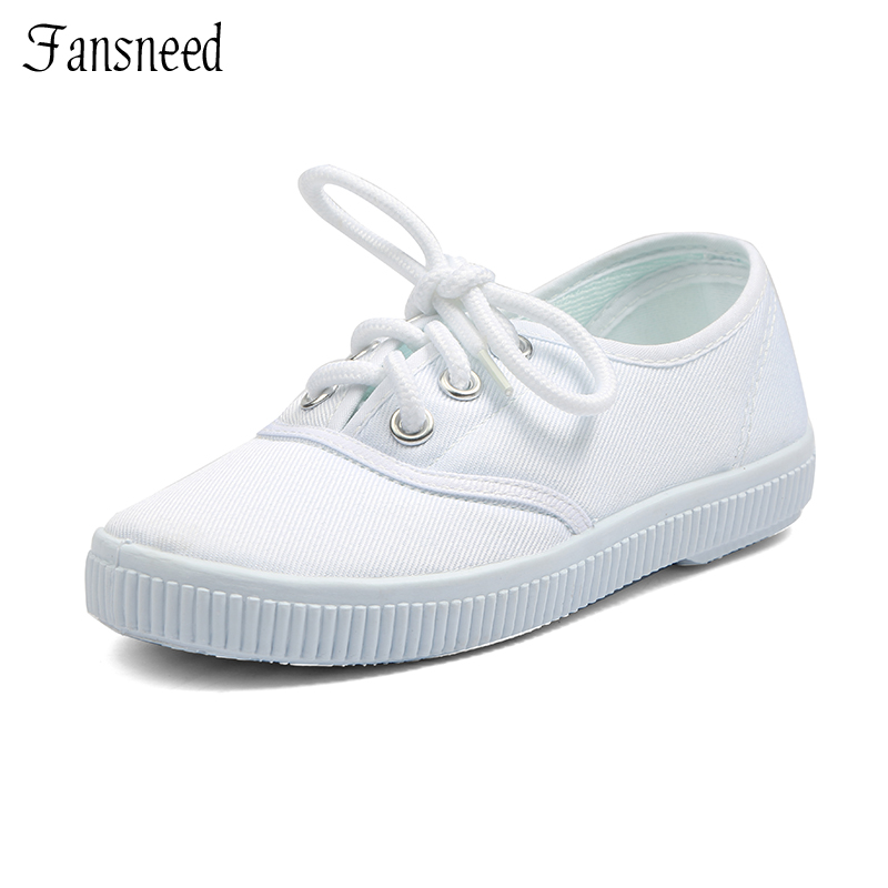 Child small white shoes white canvas primary school students shoes white shoes male female child dance shoes