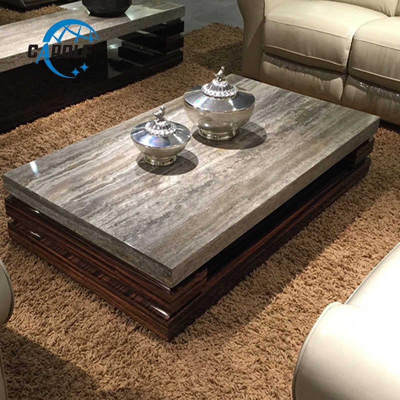 marble top wooden corner table