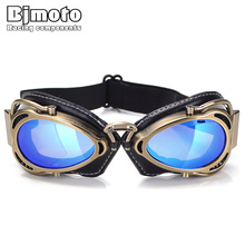 BJMOTO 2019 Cool MTB Biker Goggles Motorcycle Goggle  Sunglasses Scooter Moto Aviateur Vintage Glasses Motocross