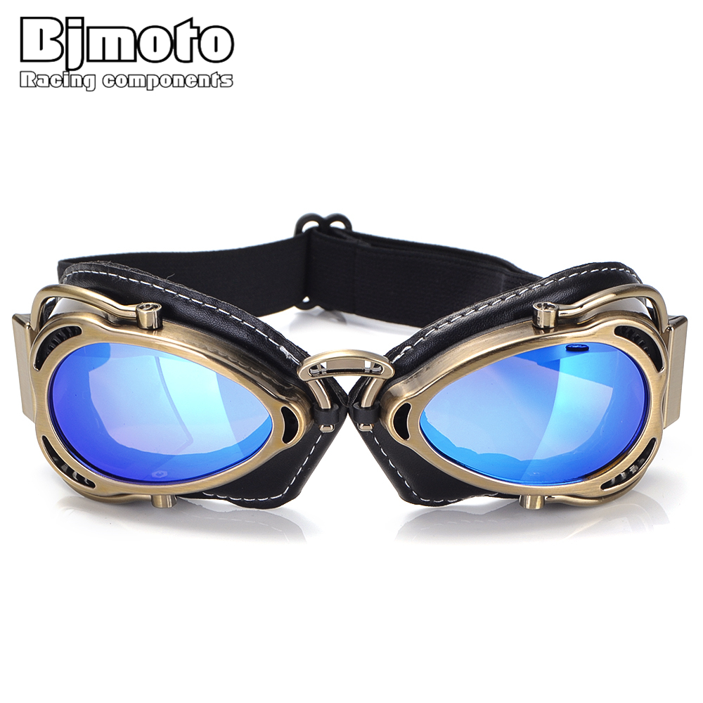 BJMOTO 2019 Cool MTB Biker Goggles Motorcycle Goggle Sunglasses Scooter Moto Aviateur Vintage Glasses Motocross Goggle